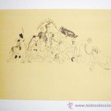 Arte: JORGE CASTILLO / PÁJAROS-2. GRABADO ORIGINAL FECHADO, NUMERADO 21 / 75 Y FIRMADO A LÁPIZ. Lote 29706557