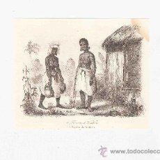 Arte: GRABADO. 1852. 14X11 CM. Nº 3. MUJERES DE VANIKORO. . Lote 29847025