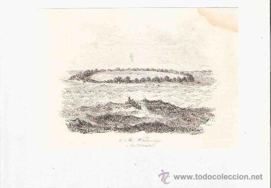 GRABADO. 1852. 16X11 CM. Nº 2. ISLA WHITSUNDAY. (Arte - Grabados - Modernos siglo XIX)
