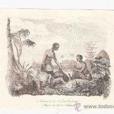 Arte: GRABADO. 1852. 16X11 CM. Nº 3. MUJERES DE NUEVA CALEDONIA. . Lote 29856643
