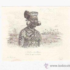 Arte: GRABADO. 1852. 16X11 CM. Nº 2. CABO DE LAS ISLAS RADAK.. Lote 29856664