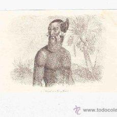 Arte: GRABADO. 1852. 16X11 CM. Nº 4. NATURAL DE ISLA RADAK. . Lote 29856682