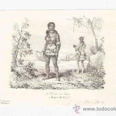Arte: GRABADO. 1852. 16X11 CM. Nº 2. MUJERES DE UALAN. PINTORESCO. . Lote 29856686