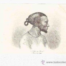Arte: GRABADO. 1852. 16X11 CM. Nº 2. NATURAL DE UALAN.. Lote 29856689