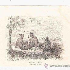 Arte: GRABADO. 1852. 16X11 CM. Nº 2. HABITANTES DE UALAN.. Lote 29856696