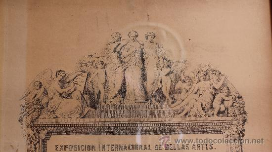 Arte: MALAGA VERDUGO LANDI GRABADO SIGLO XIX DEL PREMIO DE LA EXPOSICION GENERAL DE BELLAS ARTES ENMARCADO - Foto 3 - 222645581