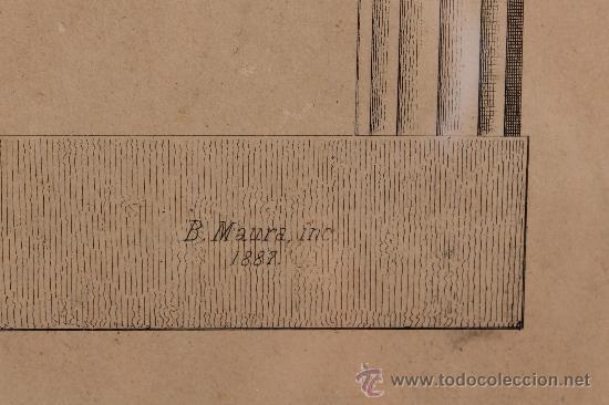 Arte: MALAGA VERDUGO LANDI GRABADO SIGLO XIX DEL PREMIO DE LA EXPOSICION GENERAL DE BELLAS ARTES ENMARCADO - Foto 6 - 222645581