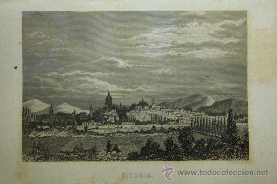 GRABADO. VITORIA. VISTA DE VITORIA. S. XIX (Arte - Grabados - Modernos siglo XIX)
