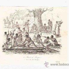 Arte: GRABADO. 1852. 16X11 CM. Nº 2. MERCADO DE MOMPOX. . Lote 29858239