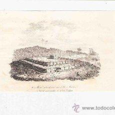 Arte: GRABADO. 1852. 16X11 CM. Nº 2. MORAI ABANDONADO EN LA ISLA MALDEN. . Lote 29858461