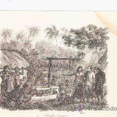 Arte: GRABADO. 1852. 16X11 CM. Nº 2. SACRIFICIO HUMANO. . Lote 29858509