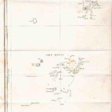 Arte: GRABADO. 35X24 CM. CARTE DES ILES TONGA. ISLAS TONGA. MAPA. 1834. . Lote 29859939