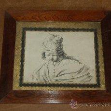 Arte: GRABADO DE S.XIX CON NUMERO DE PLANCHA, BIEN ENMARCADO.. Lote 29880541