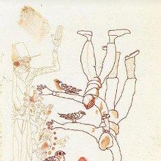 Arte: JORGE CASTILLO / EQUILIBRIO CON PÁJAROS . AGUAFUERTE ORIGINAL NUMERADO 69 / 100 Y FIRMADO A LÁPIZ. . Lote 29931185