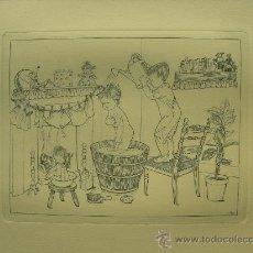 Arte: GRABADO ORIGINAL - E. ELIAS - MEDIDA LAMINA 50X36CM DIBUJO CENTRAL O MANCHA 25X19CM. Lote 29961085