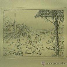 Arte: GRABADO ORIGINAL - E. ELIAS - MEDIDA LAMINA 50X36CM DIBUJO CENTRAL O MANCHA 25X19CM. Lote 29961271