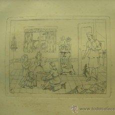 Arte: GRABADO ORIGINAL - E. ELIAS - MEDIDA LAMINA 50X36CM DIBUJO CENTRAL O MANCHA 25X19CM. Lote 29961304