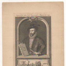 Arte: SIR WALTER RALEGH, HE WAS BEHEADED 1617 IN THE 77 YEARS OF HIS AGE. 19 X 11,5 CM. DECAPITACION.. Lote 30012751