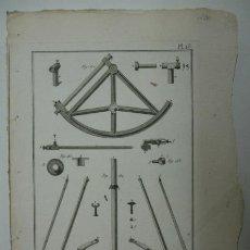 Arte: ASTRONOMIA. SUITE DU QUART DE CERCLE MOBILE. (ENCYCLOPEDIE METHODIQUE). 32 X 23 CM. . Lote 30049211