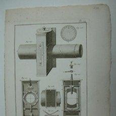 Arte: ASTRONOMIA. MICROMETRE DU QUART DE CERCLE MOBILE. (ENCYCLOPEDIE METHODIQUE). 32 X 23 CM. . Lote 30049229