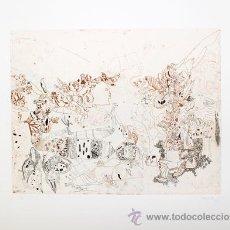 Arte: JORGE CASTILLO / SIN TÍTULO. GRABADO ORIGINAL FECHADO, NUMERADO 30 / 60 A LÁPIZ. Lote 30200613