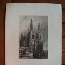 Arte: GRABADO 1840 CATEDRAL DE BURGOS 26X19 CM.. Lote 30271204