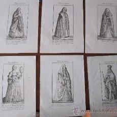 Kunst - TRAJES DE ESPAÑA. LOTE DE 8 GRABADOS AL COBRE DEL SIGLO XVIII. RAROS - 30308507