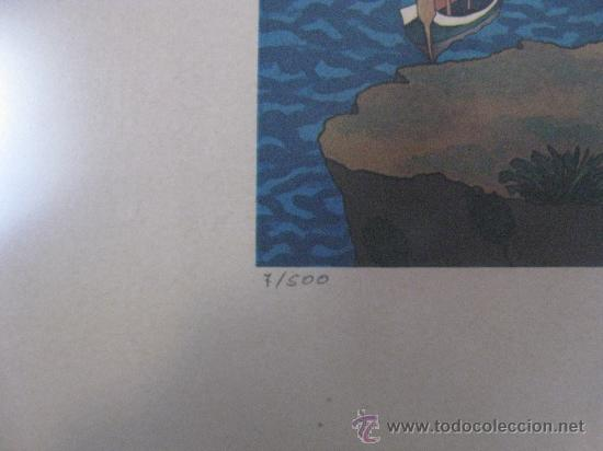 Arte: GRABADO O LITOGRAFIA NUMERADO 7/500 Y FIRMADO A LAPIZ PARECE QUE PONE KEY - BIEN ENMARCADO - Foto 4 - 30329738