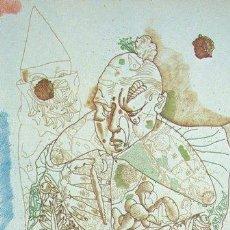 Arte: JORGE CASTILLO / VIEJO CLOWN. AGUAFUERTE NUMERDO 82 /100 Y FIRMADO A LÁPIZ ( PONTEVEDRA 1933 ,. Lote 30501844