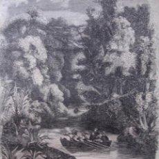 Arte: ARGENTINA RIO DE LA PLATA,ARROYO DEL ROSARIO .GRABADO DE 1849.15X19. Lote 30507247