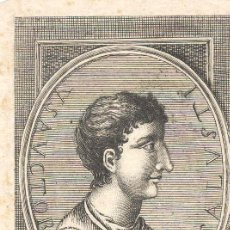 Arte: GRABADO DE CRISPUS SALLUSTIUS, ESCRITOR, HISTORIADOS EN LA ÉPOCA DEL CESAR. Lote 30601830