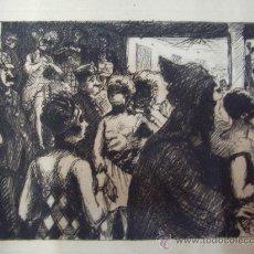 Arte: GRABADO AL AGUAFUERTE-BAILE DE DISFRACES. Lote 30640020