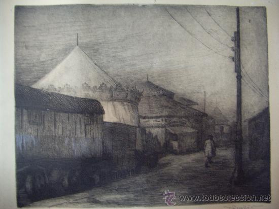 GRABADO AL AGUAFUERTE-FIRMADO ROSELLO 54 (Arte - Grabados - Contemporáneos siglo XX)