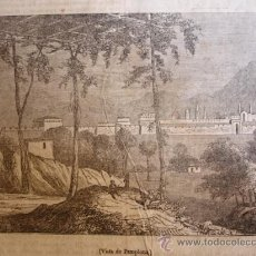 Arte: PAMPLONA GRABADO DE 1841.15X11. Lote 30675495