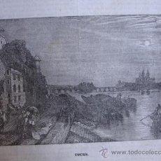 Arte: TOURS GRABADO DE 1841.15X11. Lote 30675523