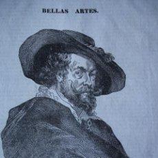 Arte: RUBENS.GRABADO DE 1841.16X20. Lote 30701412