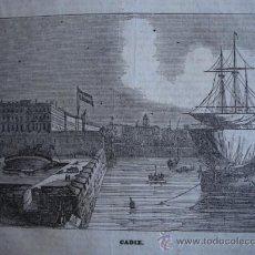 Arte: CADIZ ,GRABADO DE 1841.15X11. Lote 30715512