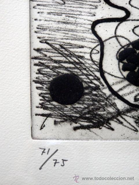 Arte: GORDILLO, LUIS (1934-). MAGNIFICO GRABADO. FIRMADO. NUMERADO (71/75). - Foto 3 - 30749001
