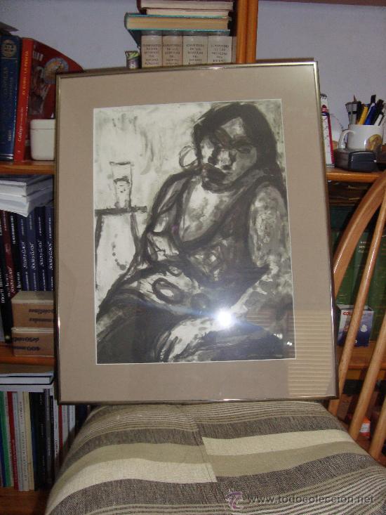 GRABADO AL AGUAFUERTE DE MARIA CARBONERO PALMA DE MALLORCA ARTISTA DEL AÑO (Arte - Grabados - Contemporáneos siglo XX)