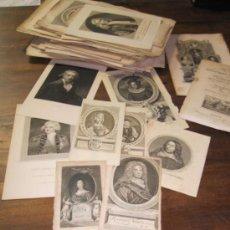 Arte: INGLATERRA. ICONOGRAFIA. 178 RETRATOS DE PERSONAJES INGLESES. GRABADOS DEL S. XVII, XVIII Y XIX. Lote 30804868
