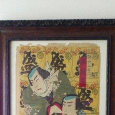 Arte: GRABADO JAPONES ORIGINAL DEL SIGLO XIX APROX AÑO 1860 . Lote 30835914
