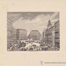 Arte: GRABADO (14,5X17,5) PUERTA DEL SOL - MADRID. GRABADOR OLIVA.. Lote 30901264