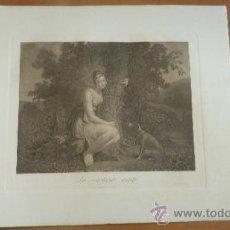 Arte: GRABADO AGUAFUERTE FRANCES LA CONSTANTE AMITIÉ, DE MALLET. S.XIX. . Lote 30991343