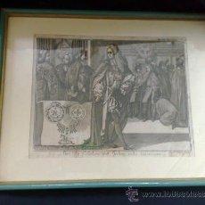 Arte: SIGLO XVIII, GRABADO ENMARCADO. Lote 28618967