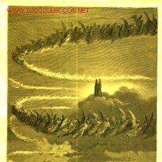 Arte: GUSTAVE DORE: GRABADO DE 1872- ESCENA N° 8 DEL PARAISO. Lote 31089418