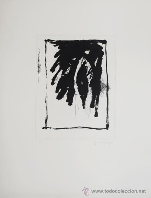 HERNÁNDEZ PIJUAN COMPOSICIÓN GRABADO ORIGINAL NUMERADO 11/50 FECHADO 85 FIRMADO A LÁPIZ PAPEL GUARRO (Arte - Grabados - Contemporáneos siglo XX)