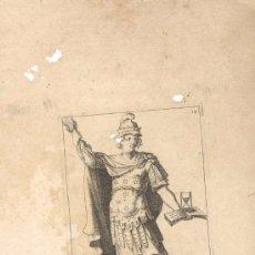 Arte: GRABADO FRANCES ELOQUENCE, SIGLO XVI O XVII REPRESENTANDO UNA DE LAS MUSAS DEL ARTE. Lote 31186676