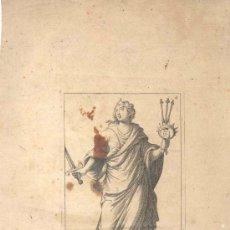 Arte: GRABADO FRANCES MELPOMENE, SIGLO XVI O XVII REPRESENTANDO UNA DE LAS MUSAS DEL ARTE. Lote 31186740