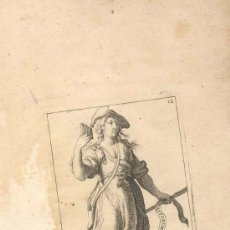 Arte: GRABADO FRANCES POEME PASTORAL, SIGLO XVI O XVII REPRESENTANDO UNA DE LAS MUSAS DEL ARTE. Lote 31186772