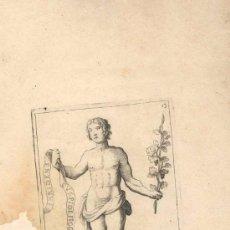 Arte: GRABADO FRANCES POEME SATYRIQUE, SIGLO XVI O XVII REPRESENTANDO UNA DE LAS MUSAS DEL ARTE. Lote 31186805